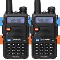 ingrosso ricetrasmettitori radiofonici a mano-2 PZ Baofeng BF-R3 Tri-Band Walkie Talkie 220-225 MHz Amatoriale Ham palmare CB Radio portatile Comunicador Trasmettitore Ricetrasmettitore
