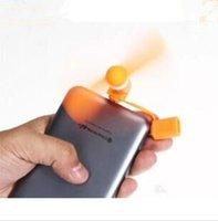 mão, segurando, telefone venda por atacado-Portátil 2 em 1 Mini Micro USB Fan por Smartphone Celular Celular Fan Cooler Cool hand -held Para Apple ou Android hold Fan