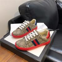 ingrosso pattino dei capretti del ragazzo di disegno nuovo-Nuovi bambini scarpe design classico ragazzi e ragazze scarpe da ginnastica di design di lusso scarpe casual Vera pelle per bambini scarpe sportive per bambini sneakers