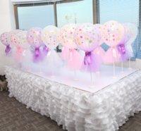 decoración de la mesa alta boda al por mayor-6 color de la tabla de la falda boda de la cubierta Parte festiva de cumpleaños decoración de la tabla de tela de alta calidad moderna simple