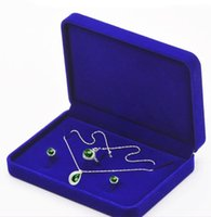 samt schmuckschatulle sets großhandel-17x12x3.5cm heißer Samtschmucksachekasten-Halskettengeschenkkasten für jewerly gesetzten Anzeigenmagazin-Großhandelspreis