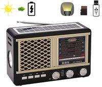 rádio portátil de energia solar venda por atacado-Rádio de energia solar rádio recarregável receptor de rádio portátil fm / am / sw com suporte usb tf cartão aux-in
