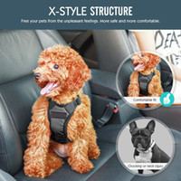 Wholesale black nylon belt clips resale online - Dog Safety Vest Harness Pet Car Harness Vehicle Seat Belt with Adjustable Strap and Buckle Clip Easy Control for Driving Traveling Safety