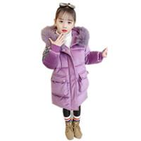 manteaux d'école d'hiver pour filles achat en gros de-Hiver filles chaudes manteau à paillettes filles hiver princesse veste école enfant garder au chaud Noël manteau mignon vêtements de neige
