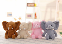 Wholesale wedding stuffed animals online - 2019 new soft elephant plush doll wedding doll Stuffed Animals holiday promotion Plush Animals children s gift toys
