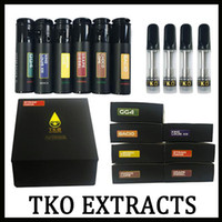 Wholesale oils displays for sale - Group buy Newest black TKO Extracts Vape Cartridge ml Ceramic Coil Thick Oil Thread Flavors Sticker Boxes and Display Box