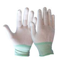 elektronische handschuhe großhandel-24pair Antistatic Gloves Electronic Glove Antistatischer, staubfreier Dünnschliff-Strickhandschuh Schutzhandschuh tragen