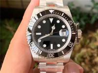 correia mecânica venda por atacado-N- preto Sub [V10] forte versão montre cinto de luxe cerâmica anel de boca 904 aço 2836,3135 movimento mecânico relógios marca desenhador