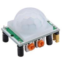 ir módulo sensor venda por atacado-5 unidades / pacote HC-SR501 Ajustar IR Pyroelectric Infravermelho PIR Sensor de Movimento Módulo Detector NOVO