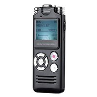 Wholesale microphone rechargeable for sale - Group buy 8Gb Portable Digital Voice Recorder Dual Microphones Mp3 Music Player Built In Rechargeable Lithium Battery With Earphones For M
