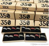 meias de tamanho único venda por atacado-2017 Mais recente Chegada 350 V2 Socks no mesmo parágrafo uma caixa 4 pares 4 cores SPLY - 350 Homens Mulheres Socks Tamanho livre 350 Esportes Socks