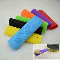 silikon kaplar toptan satış-Kalınlaşma büyük bir silikon tencere kolu set olmuştur silikon wok eldivenler ısı yalıtımı kaymaz tencere kolu kapak kolu kapak T3I5176