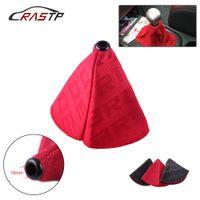 RASTP-Universal JDM Style Bride Canvas Shift Lever Knob Boot Cover Racing Car Shift Knob Collars RS-SFN059