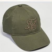 ingrosso cappelli cachi per le donne-New Black Khaki Green Cap Sky Blue Ricamo Moda Sik Cappello di seta Harajuku da uomo Berretto da baseball Uomini e donne Street Wear