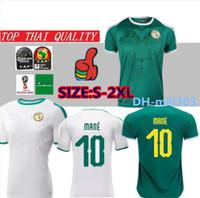 futbol dünya kupası formaları toptan satış-2019 20 Afrika Kupası Senegal Futbol Forması üst Tay kalite 2018 dünya kupası Senegal ulusal MANE futbol takımı futbol forması Futbol forması