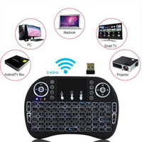 Wholesale Mini i8 Keyboard Backlit G Wireless Fly Air Mouse Rechargeable With Backlight Touchpad Remote Controlers For MXQ pro X96 TV Box new