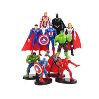 ingrosso figurine di azione plastica-10.5 Cm Marvel Toys Action Figure Super Hero Batman Thor Avengers e Hulk Captain America Action Figure Doll Modello da collezione da collezione.