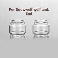 tanque de lobo venda por atacado-3 pcs Substituição Pyrex Fatboy Bolha Claro Transparente Tubo De Vidro Para Snowwolf lobo RTA tanque 6 ml Atomizador