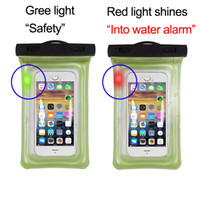Wholesale iphone water seal online – custom Into water alarm Airbag Waterproof Mobile Phone Case For iPhone Xs Max Plus Luminous Sealed Swimming Phone Bag for Samsung Xiaomi