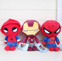 eisen mann puppe plüsch großhandel-Marvel Film Superheld Heimkehr Plüsch Puppe Spielzeug für Kinder Geschenke Cartoon Spiderman Iron Man Plüschtiere