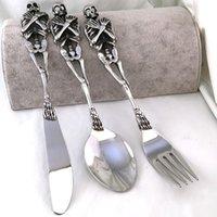 ingrosso partito di cucchiaio di forchetta-Forchetta / cucchiaio / coltello da tavola in acciaio inossidabile 316L Posate Set di forchette Cucchiaio Forchette da pranzo Accessori per feste Articoli da cucina Garfo