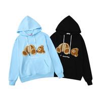 polar panda hoodie toptan satış-Erkek moda hoodie kazak PA Kırık ayı teddy bear eğilim polar patlama kazak erkekler ve kadınlar ile aynı boyutta M-XXL
