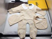 Wholesale baby girl cotton rompers resale online - Baby Rompers Designer Kids Long Sleeve Cotton Jumpsuits Infant Girls Cotton Romper Boy Clothing for