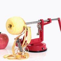 elma meyveleri soyucu toptan satış-Çok Fonksiyonlu Elma Soyucu Paslanmaz Çelik Meyve Armut Dilimleme Makinesi Taşınabilir Parçalayıcı Soyulmuş Kesici Zester Mutfak Aletleri EEA465