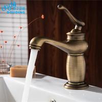 ingrosso rubinetti a mano singola in bronzo-DooDii Contemporary Concise Bathroom Faucet Bronzo antico Finitura Bacino Lavello Rubinetto Rubinetto Monocomando Rubinetto