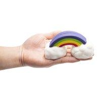игрушечная игрушка пены оптовых-Новый дизайн PU пена красочные радужные облака формы Squishies игрушки оптом мило производитель TOY радуги торт Squishy