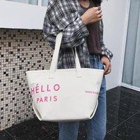 Wholesale fashion women office handbags resale online - Designer Fashion Designer Women Handbag Female Canvas bags Handbags Ladies Portable Shoulder Bag Office business Ladies Totes Daka