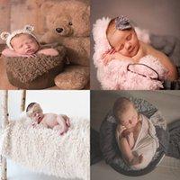 accesorios de piel al por mayor-manta de bebé paño grueso y suave suave fotografía de fondo manta de conmemoración alfombra 100 días manta de piel sintética Apoyos fotográficos Swaddling