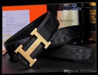 cinturon de hombre jaguar al por mayor-Hombres de la marca cinturones de cuero Venta al por mayor al por menor Famosa marca Cinturón Jaguar Hombres Calidad superior Moda genuina de cuero de lujo diseñador de negocios ceinture