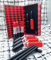 Wholesale plumping lipstick for sale - Group buy Lip gloss IN1 Maquiagem profissiem Completa agate red lip color plump tattoo makeup lipstick