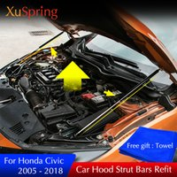 Wholesale honda civic mounts resale online - Car Bonnet Hood Support Hydraulic rod Lift Strut Spring Shock Bars Bracket For Honda Civic Car styling