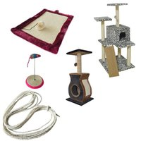 standart çerçeveler toptan satış-Kedi Tırmığı Kurulu Kedi Tırmanma Çerçevesi Aksesuarları Pet Özel Ağartılmış Sisal Halat 4-10 MM Standart Ev Yapımı DIY Oyuncak