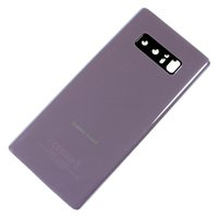 caixa da bateria da parte traseira da nota da galáxia venda por atacado-para Samsung Galaxy Note 8 N950U Bateria Back Door tampa da caixa de vidro + Camera Lens + preattached Adhesive