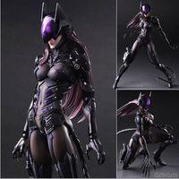 brinquedos batman para crianças venda por atacado-NEW hot 28 cm Catwoman Batman super heróis coletores figura de ação brinquedos móveis de Natal caçoa o presente