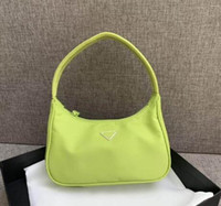 Wholesale fluorescent green fabric for sale - Group buy Classic Deluxe Women Bags Nylon Purse Crescent Bag Match Fabric Fluorescent Tote Handbags Wallet Tote Parachute Fabric Totes