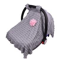 kostenlose baby autositzbezüge großhandel-Baby-Auto-reizende Blumen-Sitzabdeckung für Mädchen-Jungen-Säuglings-Carseat-Überdachungs-Abdeckung 95 * 75cm 5 Arten DHL-freies Verschiffen
