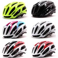 bisiklet kaskları kadınlar toptan satış-Yol Dağ Bisikleti Binme Kask Süper Hafif Entegrasyon Kalıp Basit Para 4D Bisiklet Kask için Erkekler Kadınlar 65tm dd