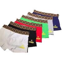 Wholesale brand men cotton boxers resale online - FF Men Letters Underwear Boxers FENDS Breathable Cotton Underpants Luxury Designer Shorts Cuecas Tight Waistband Ultra Underpant A6503