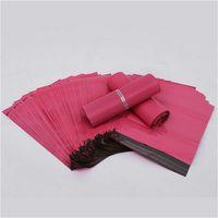 gants musulmans achat en gros de-100pcs / lot Pink Poly Mailer 10 * 13 pouces Sac Express 25 * 35cm Sacs de courrier Enveloppe / Joint auto-adhésif Sac de sachets en plastique
