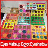 maskerade-make-up großhandel-Beliebte Augen Make-up Maskerade Palette Ägypten Lidschatten Palette Zulu Lidschatten 16 Farbe 12 Farbe 6 Farbe erröten