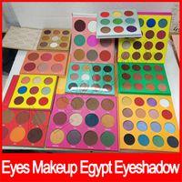 16 sombra de ojos al por mayor-Popular Maquillaje de ojos Mascarada Paleta Egipto Sombra de ojos Paleta Sombra de ojos Zulu 16 color 12 color 6 color rubor