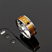 anillos nfc al por mayor-Anillo NFC Acero inoxidable NFC Anillos inteligentes Banda anillo Anillos de desgaste inteligentes para hombres Mujeres Drop Ship