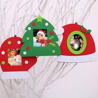 Wholesale tree frames resale online - Christmas Tree Hat Glove Shape Photo Holder Frame Home Office Desktop Xmas Decor Gift