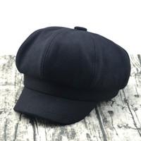 sombrero de vendedor de periódicos de tapa plana al por mayor-Hot Tweed espiga Gatsby Cap Hat Hombre Damas planas 8 Panel Baker Boy Vendedor de periódicos Artículo caliente Hot XT004