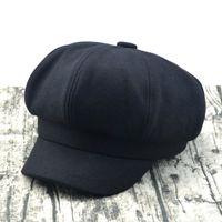 chapéu do menino dos homens venda por atacado-Hot Tweed espinha de peixe Gatsby Cap Chapéu Mens Senhoras Plana 8 Painel de Padeiro Menino Jornaleiro Hot Item Hot XT004