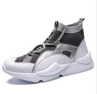 zapatillas altas amarillas al por mayor-2019 zapatos nuevo estilo Y3 top del alto de las zapatillas de deporte para hombre Triple Negro Gris Amarillo botas de alto de calidad para deportes al aire libre Formadores Diseñador Chaussures -10